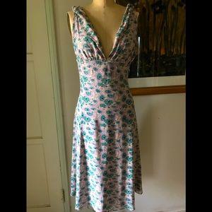Vintage Catherine Malandrino dress ,lily pads!